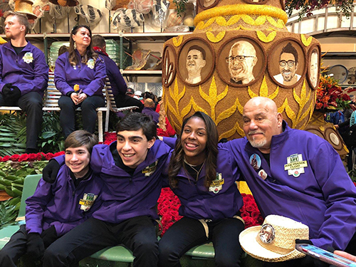 "Calling it a ""once in a lifetime experience,"" Mike DiPiano Sr. H'82 shares his New Year's Day involvement aboard the Donate Life Float during the Tournament of Roses Parade"