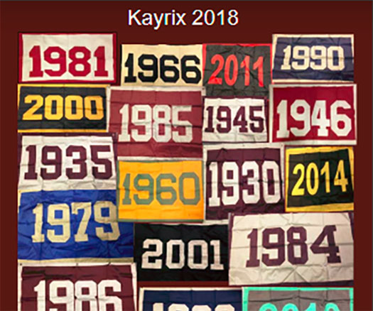 The KAYRIX, St. Benedict's student-produced literary magazine, this year focused on The Hive's Sesquicentennial