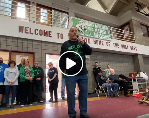 SBP host the Gift of Life Duals – Mike DiPiano Sr. H'82 and friends explain the importance of Organ Donation. Watch video and view photos of Saturday's special day at The Hive