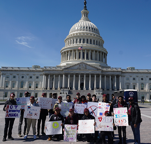 St. Benedict's students take part in March for Our Lives rally in the nation's capital