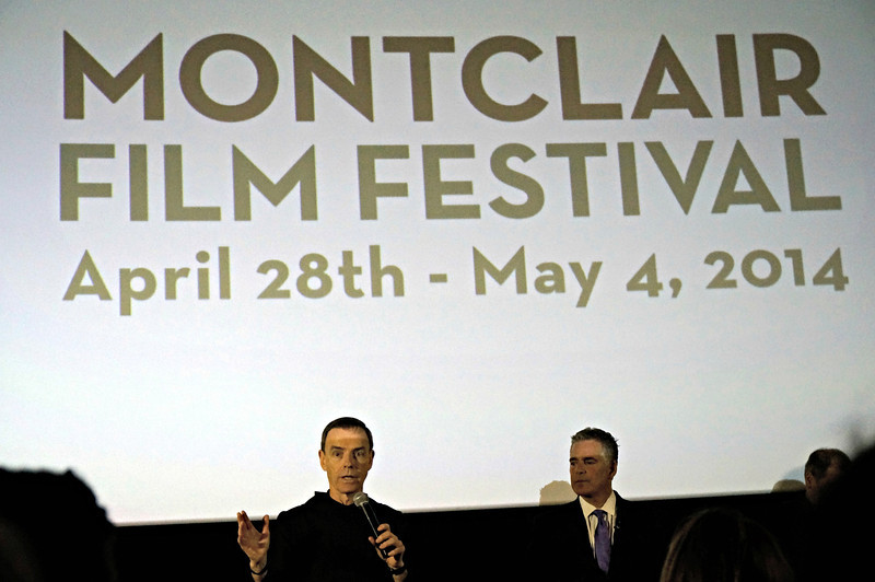 Fr. Edwin and Steve Adubato, Ph.D speaking at the Montclair Film Festival