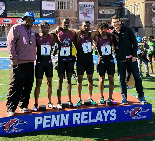 Gray Bees 4x800-meter relay team is the top American finisher at Penn Relays