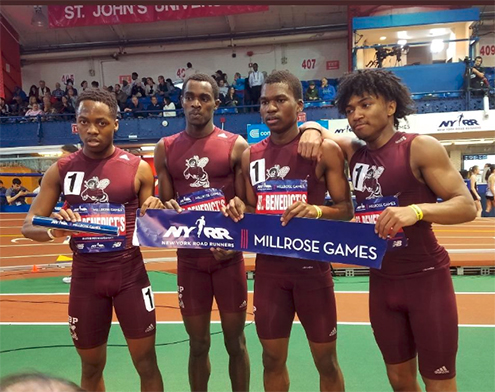 Track team highlights weekend action by rewriting school record books at Millrose Games